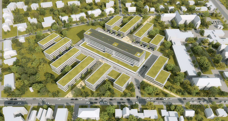 Projektsteuerung FUBIC Luftbild visualisiert